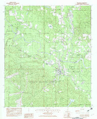 Beaumont Mississippi Historical topographic map, 1:24000 scale, 7.5 X 7.5 Minute, Year 1982