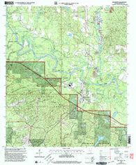 Beaumont Mississippi Historical topographic map, 1:24000 scale, 7.5 X 7.5 Minute, Year 2000