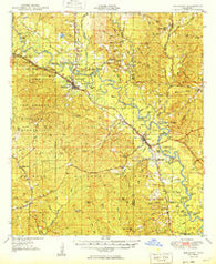 Beaumont Mississippi Historical topographic map, 1:62500 scale, 15 X 15 Minute, Year 1949