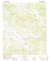 Bellefontaine Mississippi Historical topographic map, 1:24000 scale, 7.5 X 7.5 Minute, Year 1983