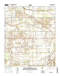 Bellewood Mississippi Current topographic map, 1:24000 scale, 7.5 X 7.5 Minute, Year 2015