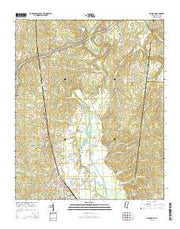 Belmont Mississippi Current topographic map, 1:24000 scale, 7.5 X 7.5 Minute, Year 2015 from Mississippi Maps Store