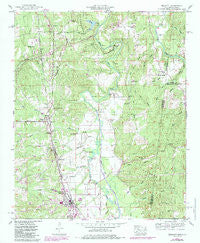 Belmont Mississippi Historical topographic map, 1:24000 scale, 7.5 X 7.5 Minute, Year 1950