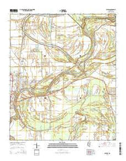 Belzoni Mississippi Current topographic map, 1:24000 scale, 7.5 X 7.5 Minute, Year 2015 from Mississippi Maps Store