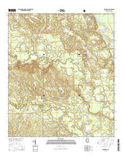 Benndale Mississippi Current topographic map, 1:24000 scale, 7.5 X 7.5 Minute, Year 2015 from Mississippi Maps Store