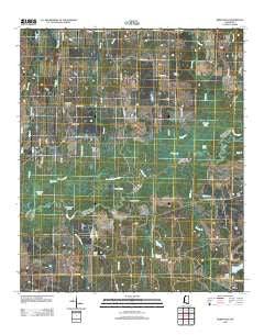 Berryville Mississippi Historical topographic map, 1:24000 scale, 7.5 X 7.5 Minute, Year 2012