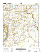Beulah Mississippi Current topographic map, 1:24000 scale, 7.5 X 7.5 Minute, Year 2015 from Mississippi Map Store