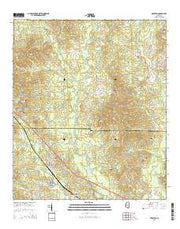 Braxton Mississippi Current topographic map, 1:24000 scale, 7.5 X 7.5 Minute, Year 2015 from Mississippi Maps Store