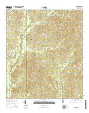 Brewer Mississippi Current topographic map, 1:24000 scale, 7.5 X 7.5 Minute, Year 2015 from Mississippi Maps Store