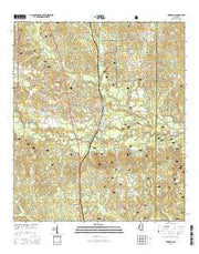 Brooklyn Mississippi Current topographic map, 1:24000 scale, 7.5 X 7.5 Minute, Year 2015 from Mississippi Maps Store