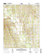 Buena Vista Mississippi Current topographic map, 1:24000 scale, 7.5 X 7.5 Minute, Year 2015 from Mississippi Map Store