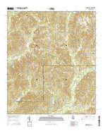 Bunker Hill Mississippi Current topographic map, 1:24000 scale, 7.5 X 7.5 Minute, Year 2015 from Mississippi Map Store