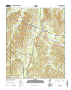 Burnsville Mississippi Current topographic map, 1:24000 scale, 7.5 X 7.5 Minute, Year 2015 from Mississippi Map Store