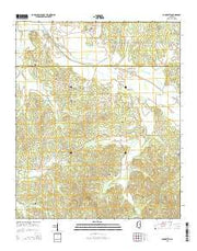Cadaretta Mississippi Current topographic map, 1:24000 scale, 7.5 X 7.5 Minute, Year 2015 from Mississippi Maps Store
