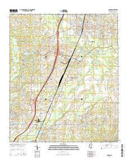 Canton Mississippi Current topographic map, 1:24000 scale, 7.5 X 7.5 Minute, Year 2015 from Mississippi Maps Store
