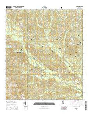 Carnes Mississippi Current topographic map, 1:24000 scale, 7.5 X 7.5 Minute, Year 2015 from Mississippi Maps Store