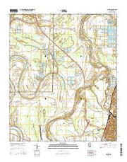 Carter Mississippi Current topographic map, 1:24000 scale, 7.5 X 7.5 Minute, Year 2015 from Mississippi Maps Store