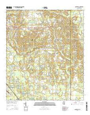 Carterville Mississippi Current topographic map, 1:24000 scale, 7.5 X 7.5 Minute, Year 2015 from Mississippi Maps Store