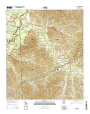 Cayuga Mississippi Current topographic map, 1:24000 scale, 7.5 X 7.5 Minute, Year 2015 from Mississippi Maps Store