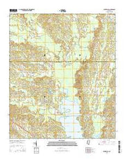 Center Hill Mississippi Current topographic map, 1:24000 scale, 7.5 X 7.5 Minute, Year 2015 from Mississippi Maps Store