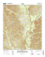 Center Ridge Mississippi Current topographic map, 1:24000 scale, 7.5 X 7.5 Minute, Year 2015 from Mississippi Map Store