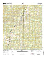 Centreville Mississippi Current topographic map, 1:24000 scale, 7.5 X 7.5 Minute, Year 2015 from Mississippi Map Store