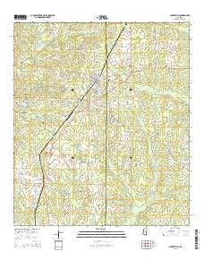 Centreville Mississippi Current topographic map, 1:24000 scale, 7.5 X 7.5 Minute, Year 2015