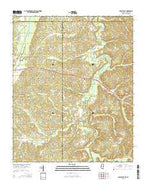 Chalybeate Mississippi Current topographic map, 1:24000 scale, 7.5 X 7.5 Minute, Year 2015 from Mississippi Map Store