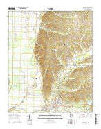 Charleston Mississippi Current topographic map, 1:24000 scale, 7.5 X 7.5 Minute, Year 2015 from Mississippi Map Store