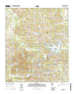 Charlton Mississippi Current topographic map, 1:24000 scale, 7.5 X 7.5 Minute, Year 2015 from Mississippi Map Store
