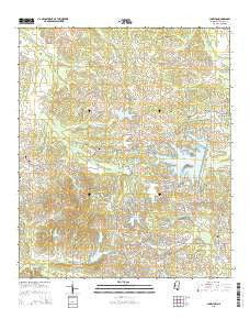 Charlton Mississippi Current topographic map, 1:24000 scale, 7.5 X 7.5 Minute, Year 2015