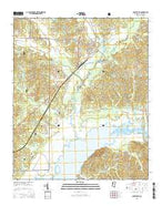 Coffeeville Mississippi Current topographic map, 1:24000 scale, 7.5 X 7.5 Minute, Year 2015 from Mississippi Map Store