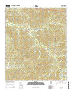 Coila Mississippi Current topographic map, 1:24000 scale, 7.5 X 7.5 Minute, Year 2015 from Mississippi Map Store