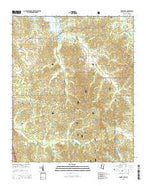 Coker Lake Mississippi Current topographic map, 1:24000 scale, 7.5 X 7.5 Minute, Year 2015 from Mississippi Map Store