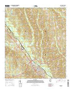 Collins Mississippi Current topographic map, 1:24000 scale, 7.5 X 7.5 Minute, Year 2015 from Mississippi Map Store