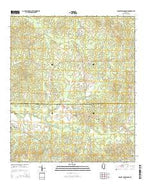 Dabney Crossroads Mississippi Current topographic map, 1:24000 scale, 7.5 X 7.5 Minute, Year 2015 from Mississippi Map Store