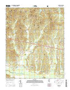 Denmark Mississippi Current topographic map, 1:24000 scale, 7.5 X 7.5 Minute, Year 2015 from Mississippi Map Store