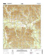 Dentville Mississippi Current topographic map, 1:24000 scale, 7.5 X 7.5 Minute, Year 2015 from Mississippi Map Store