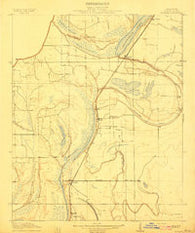 Dundee Mississippi Historical topographic map, 1:31680 scale, 7.5 X 7.5 Minute, Year 1910