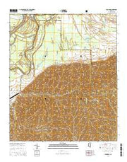 Eldorado Mississippi Current topographic map, 1:24000 scale, 7.5 X 7.5 Minute, Year 2015 from Mississippi Maps Store