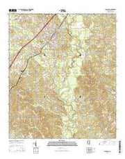 Ellisville Mississippi Current topographic map, 1:24000 scale, 7.5 X 7.5 Minute, Year 2015 from Mississippi Maps Store
