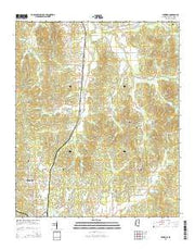 Eskridge Mississippi Current topographic map, 1:24000 scale, 7.5 X 7.5 Minute, Year 2015 from Mississippi Maps Store