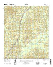 Ethel North Mississippi Current topographic map, 1:24000 scale, 7.5 X 7.5 Minute, Year 2015 from Mississippi Maps Store