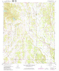 Evergreen Mississippi Historical topographic map, 1:24000 scale, 7.5 X 7.5 Minute, Year 1966