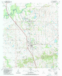 Flora Mississippi Historical topographic map, 1:24000 scale, 7.5 X 7.5 Minute, Year 1988