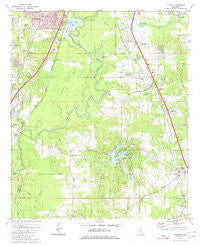 Florence Mississippi Historical topographic map, 1:24000 scale, 7.5 X 7.5 Minute, Year 1980