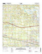 Gautier North Mississippi Current topographic map, 1:24000 scale, 7.5 X 7.5 Minute, Year 2015 from Mississippi Map Store