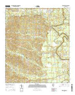 Georgetown Mississippi Current topographic map, 1:24000 scale, 7.5 X 7.5 Minute, Year 2015 from Mississippi Map Store