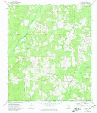 Gillsburg Mississippi Historical topographic map, 1:24000 scale, 7.5 X 7.5 Minute, Year 1972