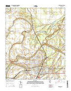 Greenwood Mississippi Current topographic map, 1:24000 scale, 7.5 X 7.5 Minute, Year 2015 from Mississippi Map Store